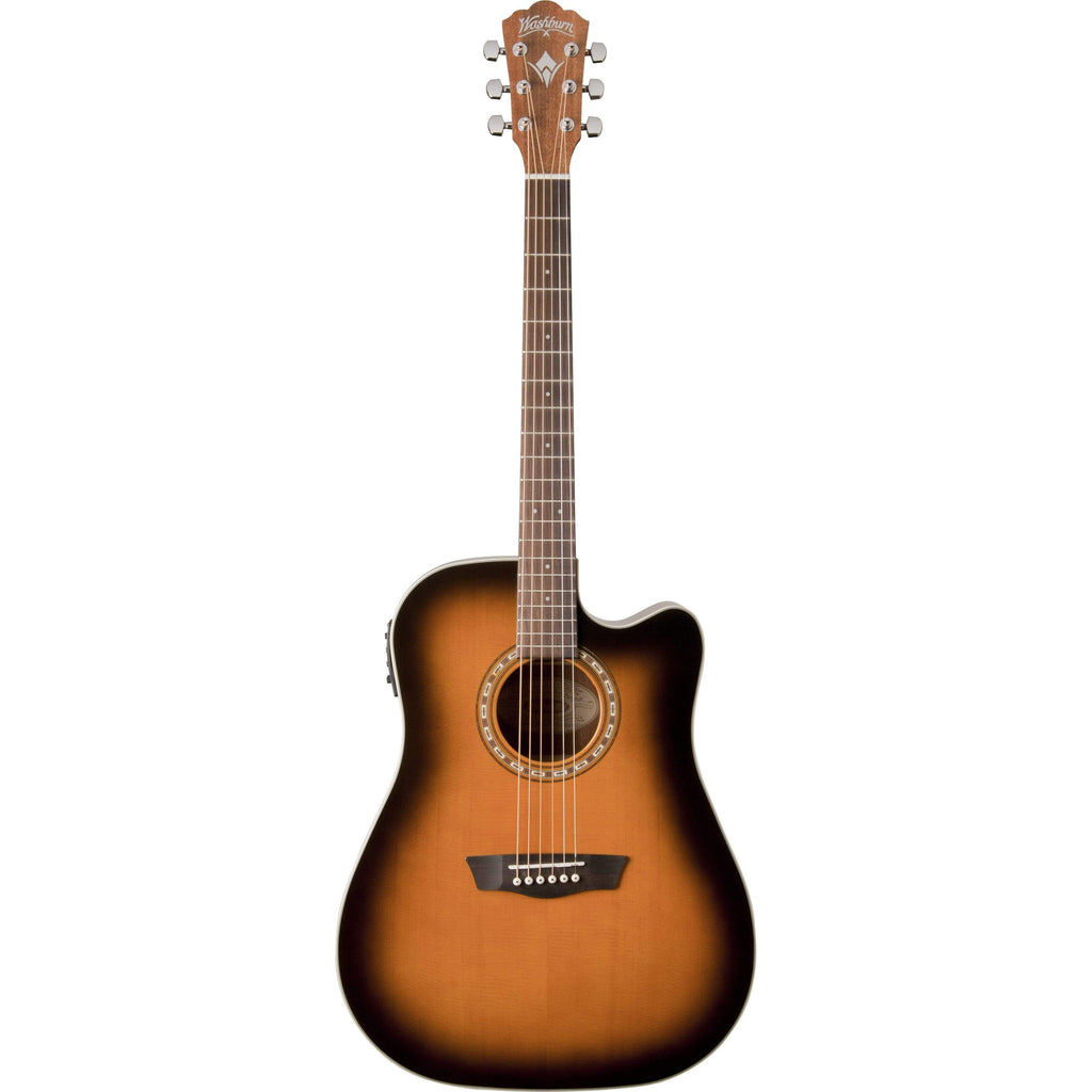 Washburn Guitars Semi-Acoustic Guitar Washburn WD7SCEATB Acoustic Guitar