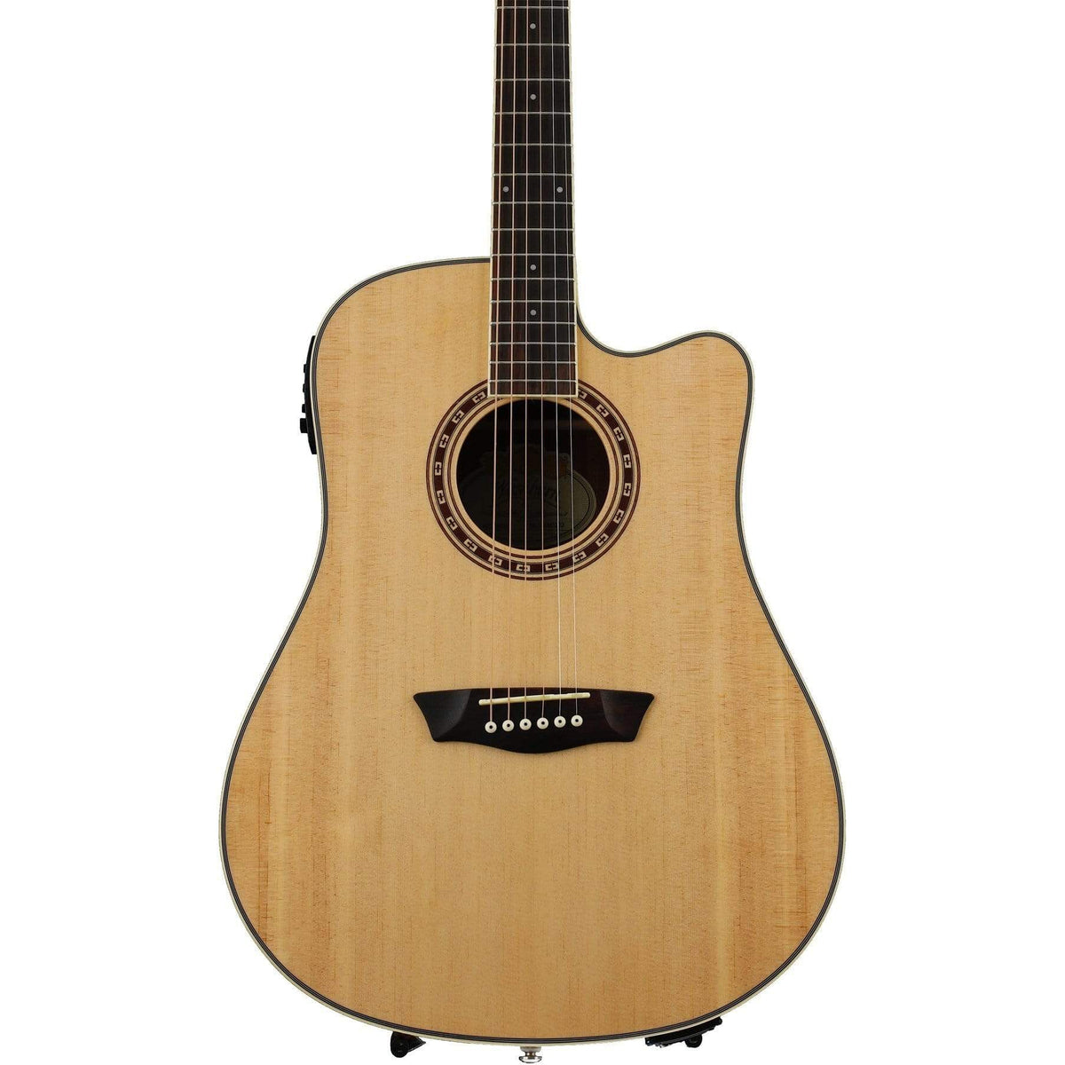 Washburn WD7SCE Semi-Acoustic Guitar - Natural