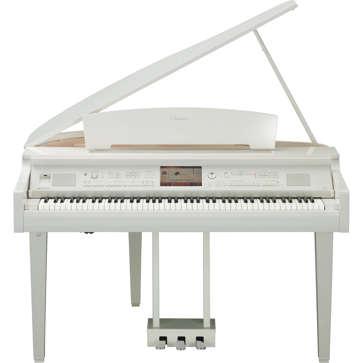 Yamaha CVP709GP Digital Grand Piano w/ Piano Bench - White