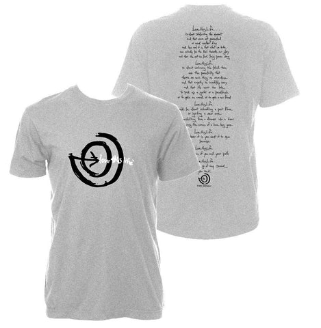 "lovethislife Men's ""2 Paths Manifesto"" Love This Life S/S - Heather Gray"