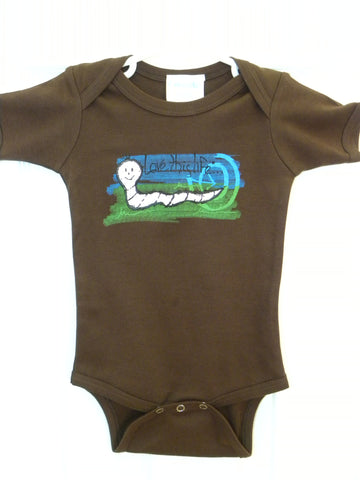 "T-LTL KID ""Inch the Worm"" Onesie"