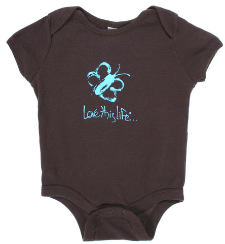 "T-LTL KID Vintage ""Kiddo the Butterfly"" Onesie Brown"