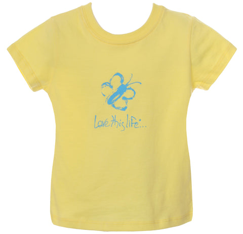 "LTL KID Vintage ""Kiddo"" Tee Yellow"