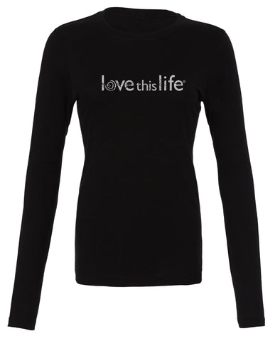 "- lovethislife ""Band Manifesto"" Crew Neck L/S (Black)"