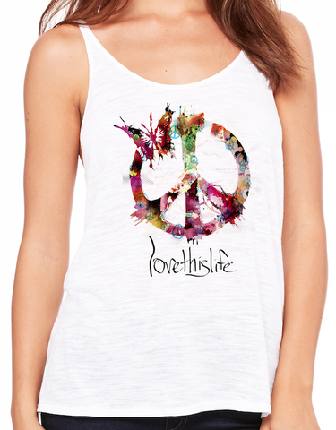 "- ""Essence Of Peace Manifesto"" Love This Life Tank Top"