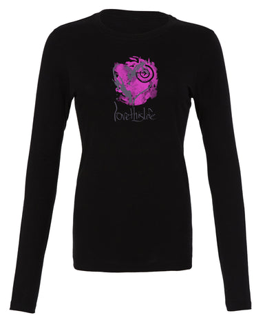 *lovethislife 'Open Heart Manifesto' Crew Neck L/S  - Black - (FINAL SALE - No Exchange Or Return)