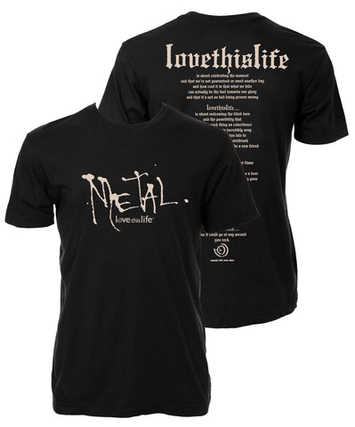 "lovethislife Men's ""Metal Manifesto"" Love This Life S/S - Black"