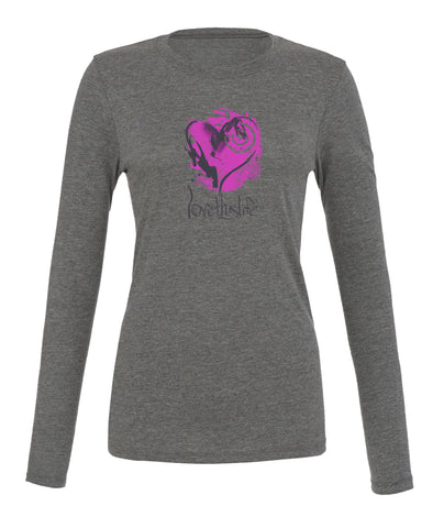 *lovethislife 'Open Heart Manifesto' Crew Neck L/S - Heather Gray - (FINAL SALE - No Exchange Or Return)