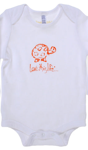 "T-LTL KID Vintage ""Scram the Turtle"" Onesie White"