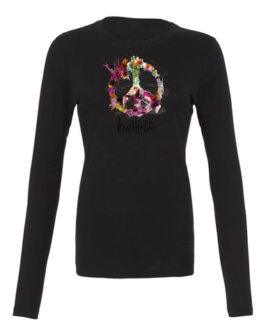"- lovethislife ""Essence Of Peace Manifesto"" Crew Neck L/S (Black)"