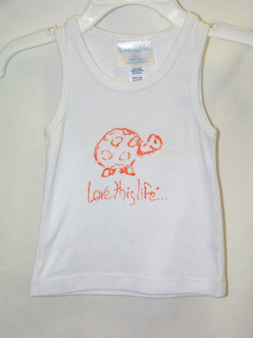 "T-LTL KID Vintage ""Scram the Turtle"" Tank White"