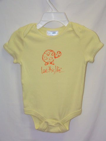 "T-LTL KID Vintage ""Scram the Turtle"" Onesie Yellow"