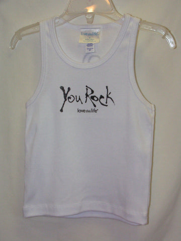 "T-LTL KID Vintage ""You Rock Black"" Tank White"