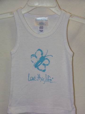 "T-LTL KID Vintage ""Kiddo the Butterfly"" Tank White"