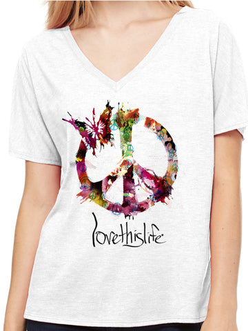 "- ""Essence Of Peace Manifesto"" Dolman Love This Life S/S"