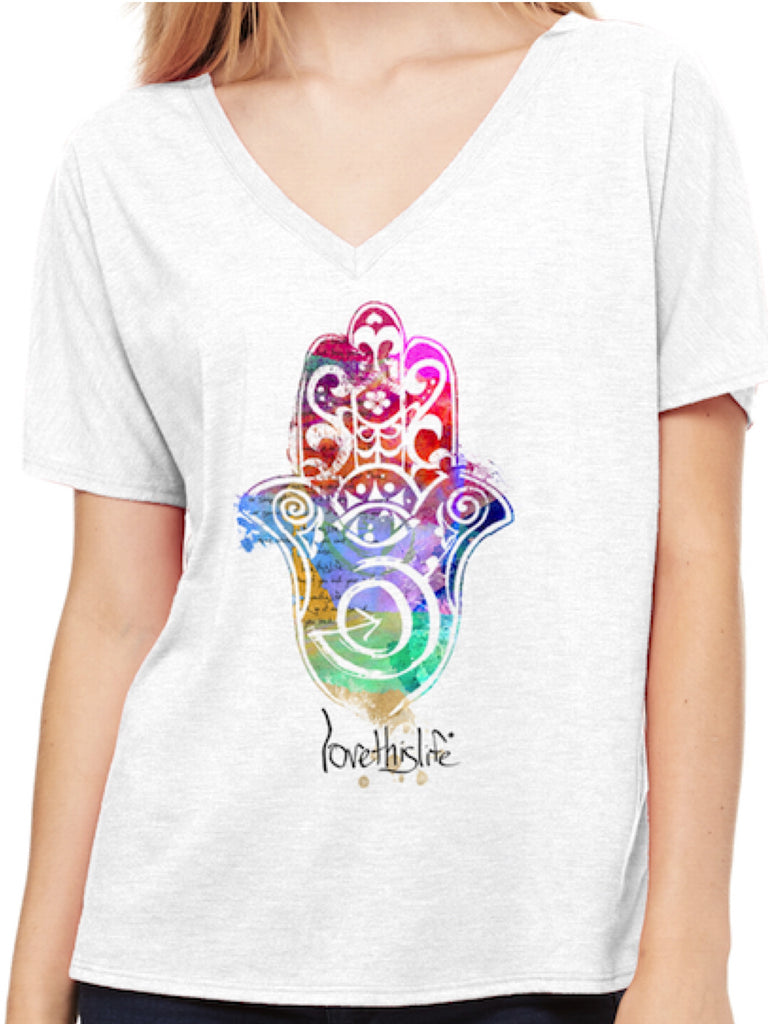 *lovethislife Hamsa Manifesto Dolman  (FINAL SALE - No Exchange Or Return)