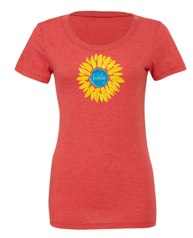 "- lovethislife ""Sunflower Manifesto"" Crew Neck S/S (Vintage Red)"
