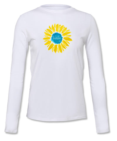 "- lovethislife ""Sunflower Manifesto"" Crew Neck L/S (White)"
