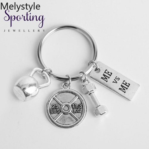 2019 Dumbbell Keychain Discus Barbell Charm Fitness Fashion Designer Coach-Souvenir Friend