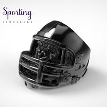 Load image into Gallery viewer, 316L Stainless Steel Gorilla Ring American Football Helmet Rings 10 / Black