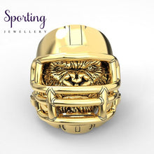 Load image into Gallery viewer, 316L Stainless Steel Gorilla Ring American Football Helmet Rings 10 / Gold