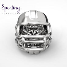Load image into Gallery viewer, 316L Stainless Steel Gorilla Ring American Football Helmet Rings 10 / Silver