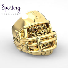 Load image into Gallery viewer, 316L Stainless Steel Gorilla Ring American Football Helmet Rings