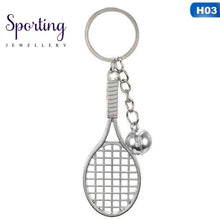 Load image into Gallery viewer, Antique Bronze Silver Metal Badminton Racket Keychain Trendy Cute Mini For Woman Man Car Sports Key