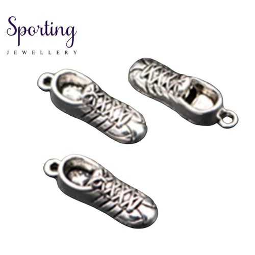 Antique Silver Fashion Running Shoes Charm Keychain Diy Jewellery Alloy Pendant