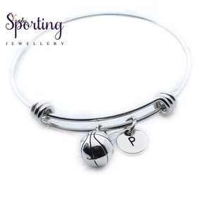 Basketball Charm Bangle Bracelet Coach Gift Idea Team Player Jewelry