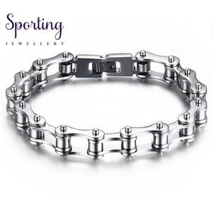 Bicycle Motorcycle Chain Bracelet Stainless Steel