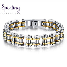 Load image into Gallery viewer, Bike Bicycle Chain Link Mens Bracelet Biker 316L Stainless Steel Fashion Sports Jewelry Casual