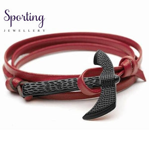 Black Axe Bracelets Burgundy