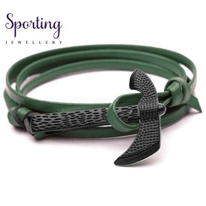 Black Axe Bracelets Darkgreen