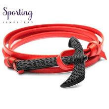 Load image into Gallery viewer, Black Axe Bracelets Red
