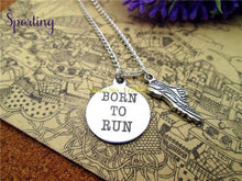 Load image into Gallery viewer, Born To Run With Running Shoes Charm Pendant 2