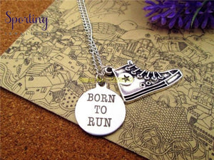Born To Run With Running Shoes Charm Pendant 3