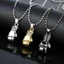 Load image into Gallery viewer, Boxer Boxing Glove Pendant Necklace