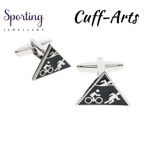 Cufflinks For Men Sports Cycle Run Swim Ironman Gifts Gemelos Les Boutons De Manchette By Cuffarts