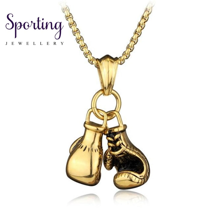 Double Boxing Glove Pendant Gold