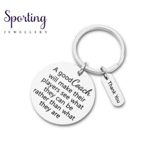 Load image into Gallery viewer, Fashion Coaches Keychains Football Basketball Baseball Swimming Soccer Key Ring Sports Gifts For Men