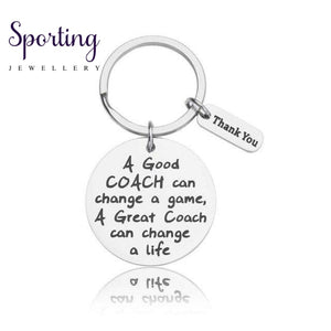Fashion Coaches Keychains Football Basketball Baseball Swimming Soccer Key Ring Sports Gifts For Men