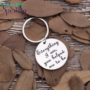 Fathers Day Gifts For Dad Mom Keychain Everything I Am You Helped Me To Be Thank Father Mother