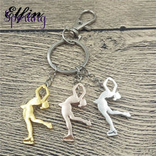 Load image into Gallery viewer, Ice Skating Key Chains Women Men Keychains