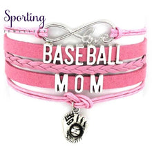 Load image into Gallery viewer, Infinity Love Baseball Mom Bracelets Coaches Heart Glove Charm Lover Womens Fashion B2199