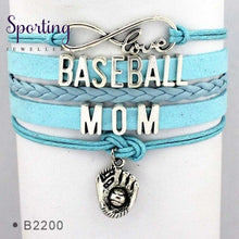 Load image into Gallery viewer, Infinity Love Baseball Mom Bracelets Coaches Heart Glove Charm Lover Womens Fashion B2200