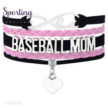Load image into Gallery viewer, Infinity Love Baseball Mom Bracelets Coaches Heart Glove Charm Lover Womens Fashion B3410