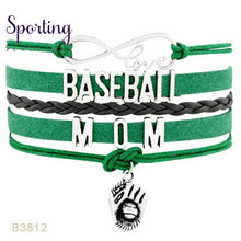 Load image into Gallery viewer, Infinity Love Baseball Mom Bracelets Coaches Heart Glove Charm Lover Womens Fashion B3812
