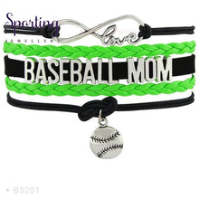 Load image into Gallery viewer, Infinity Love Baseball Mom Bracelets Coaches Heart Glove Charm Lover Womens Fashion B5201