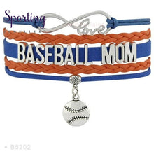 Load image into Gallery viewer, Infinity Love Baseball Mom Bracelets Coaches Heart Glove Charm Lover Womens Fashion B5202